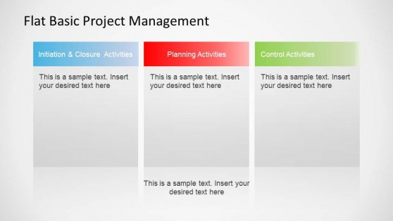 Flat Basic Project Management PowerPoint Diagram Descriptions