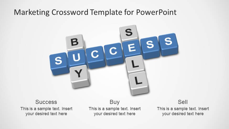 Buy, Sell, Success Crossword PowerPoint Template