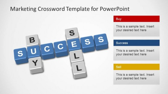 Marketing Crossword PowerPoint Template Scrabble
