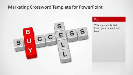 Marketing Crossword PowerPoint Template Buy
