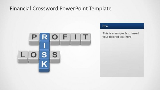 Financial Crossword PowerPoint Template Risk