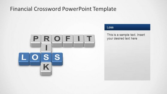 Financial Crossword PowerPoint Template Loss