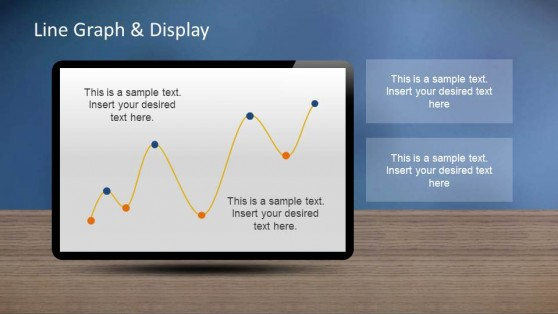 PowerPoint Line Chart with editable points