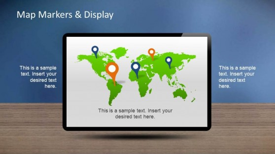 Creative Chart Dashboards PowerPoint Template World Map