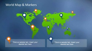 PowerPoint World Map with markers as Slide background
