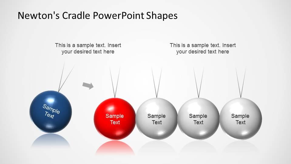 newtons cradle powerpoint shapes slidemodel