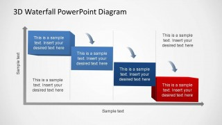 Generic Waterfall Process Diagram 4 Steps