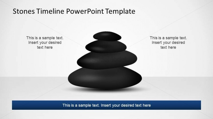 Pile of Stones representing a straight timeline for PowerPoint.