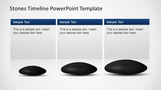 Stones Timeline Milestones Descriptions for PowerPoint