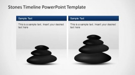 Stones Timeline PowerPoint Template with Textbox