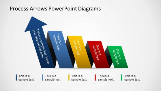 PowerPoint Arrow Shapes Increasing Right To Left