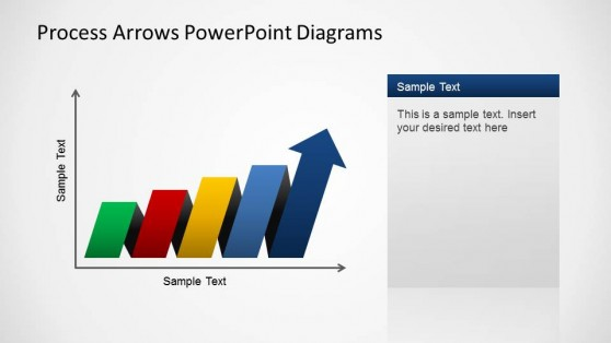Cartesian Axis PowerPoint Process Arrows Diagram