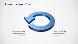 3D Circular Arrow Diagram Template for PowerPoint