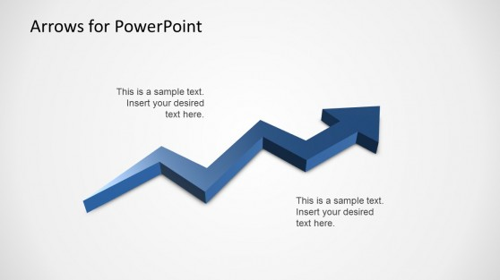 3D Zig Zag Arrow Slide Design for PowerPoint