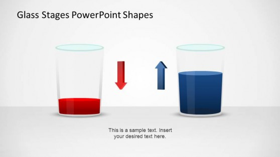 PowerPoint Glasses Shapes with Opposing Tendencies