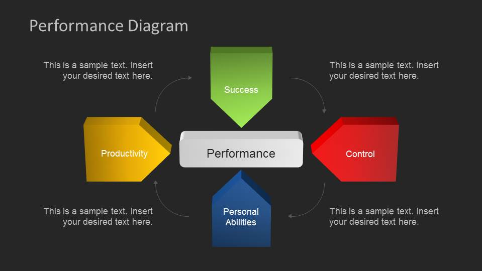 Dark Background Performance Powerpoint Diagram