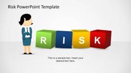 Jane Risk Management 3D Boxes PowerPoint