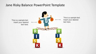 Keeping Equilibrium PowerPoint Template with Risk Illustration