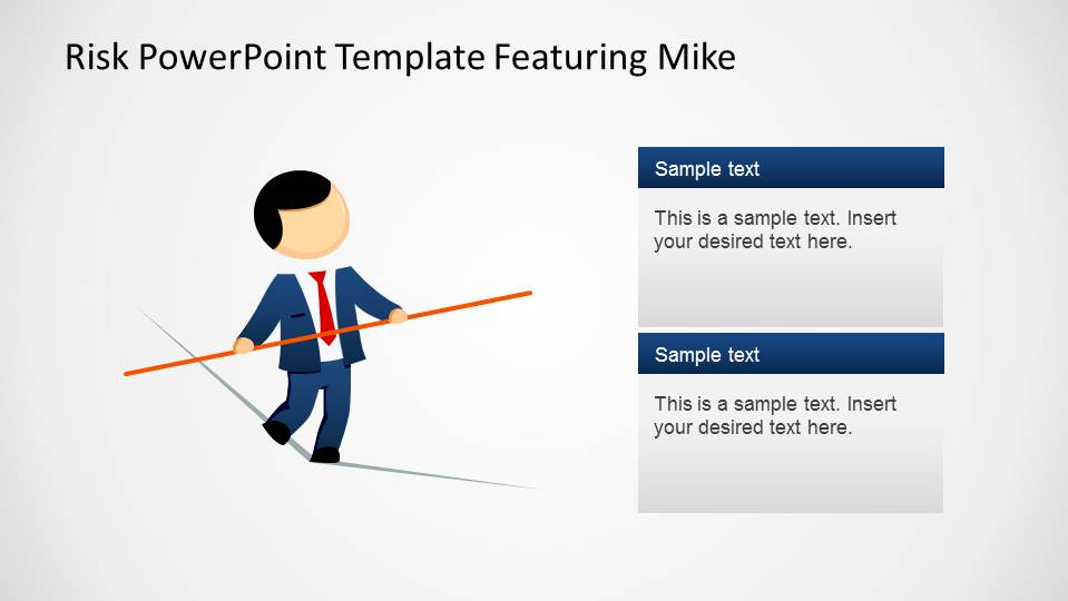 risk powerpoint template featuring mike