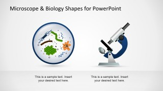 microscope & biology shapes for powerpoint - slidemodel, Powerpoint templates