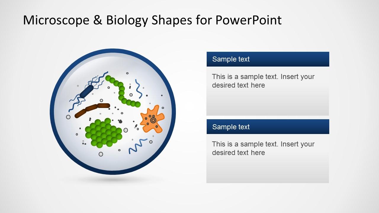 Microscope Biology Slide Design for PowerPoint