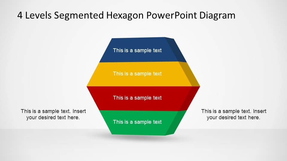 Hexagonal Staged PowerPoint Diagram with Four Layers
