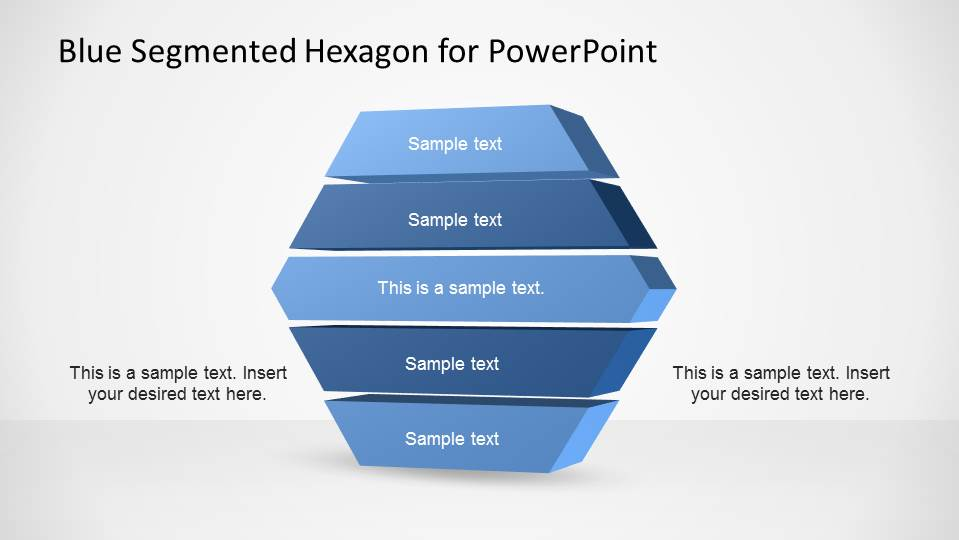 5 Layers Hexagon Segmented Diagram