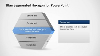 Five Layers Hexagonal Staged Diagram