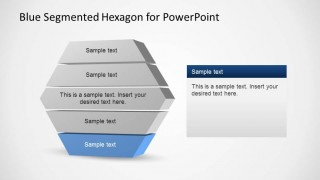 Segmented PowerPoint Diagram With 5 Layers