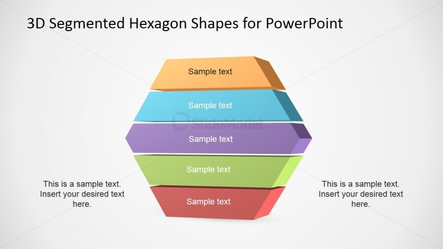3D PowerPoint Slides Segmented