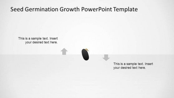 PowerPoint Seed Shape with Signs of Germination