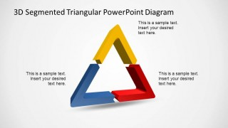 3D Triangle PowerPoint Diagram with 3 Segments.