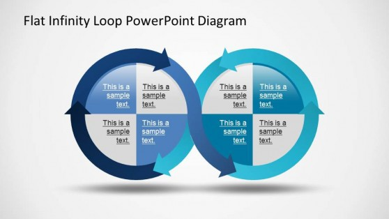 Infinity Loop Ribbon PowerPoint Diagram