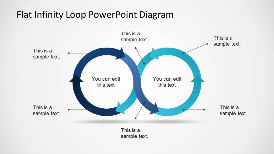 Flat Infinity Loop Powerpoint Diagram Slidemodel