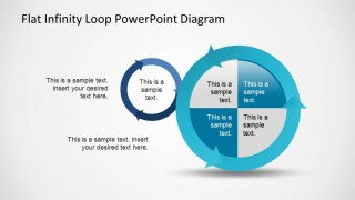 Two circular powerpoint shapes created with arrows generating an infinite loop.