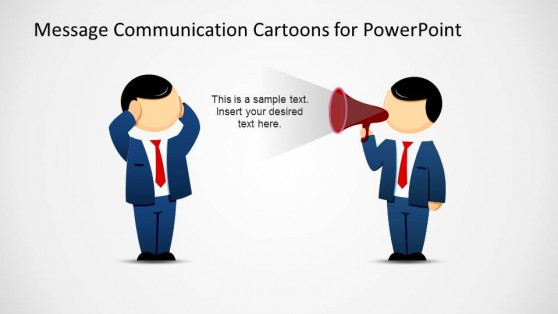 Message Sender with blocked Receiver PowerPoint Cartoon