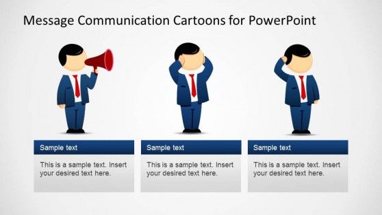 Message Theory Roles Descriptions PowerPoint Template