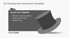 Black Thinking Hat for PowerPoint