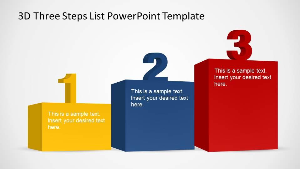 three steps podium in increasing order. - slidemodel, Presentation templates