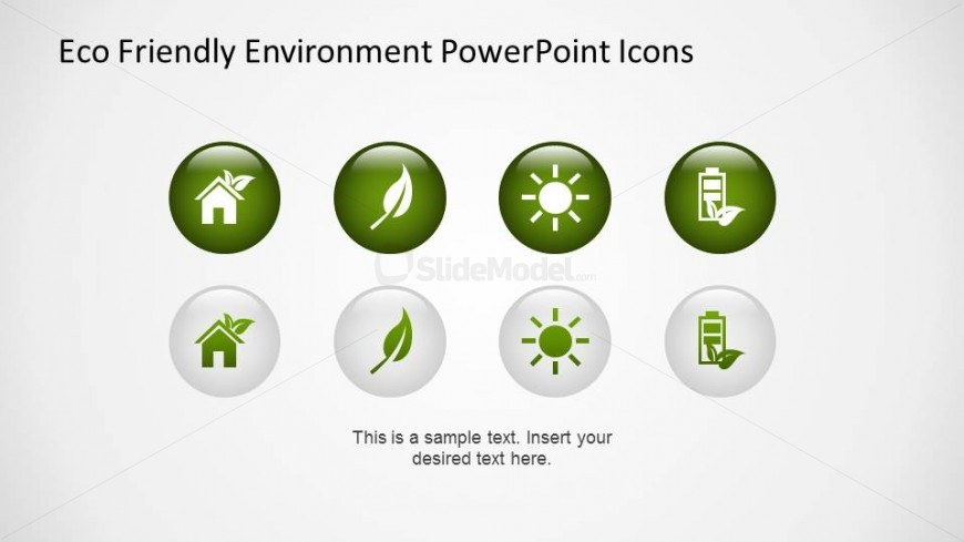 PowerPoint Icons of Environmental topics