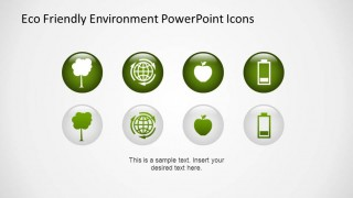 Eco Friendly PowerPoint Icons created with 3D Effects