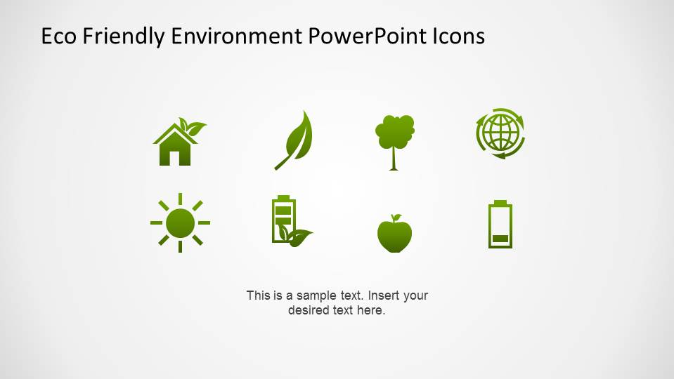 Green Gradient Environmental PowerPoint Icons