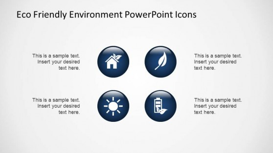Blue Gradient 3D Eco Friendly PowerPoint Icons