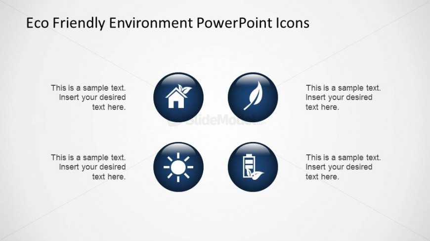 Professional Blue Gradient Eco Friendly 3D PowerPoint Icons