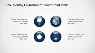 3D Blue Gradient Environmental Icons for PowerPoint