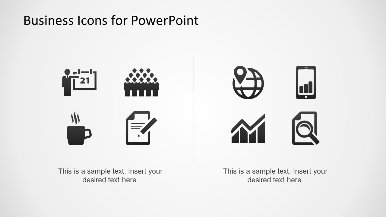 Collection of Business Icons for PowerPoint