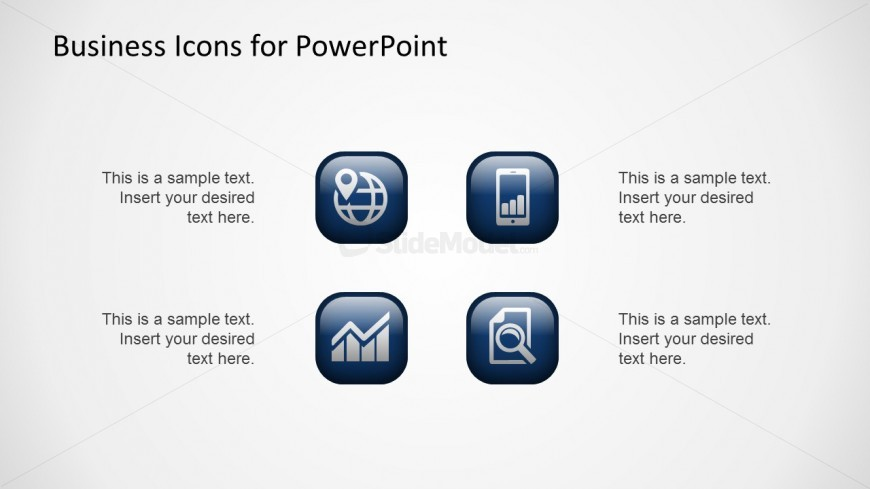 Business Icons Clipart for PowerPoint