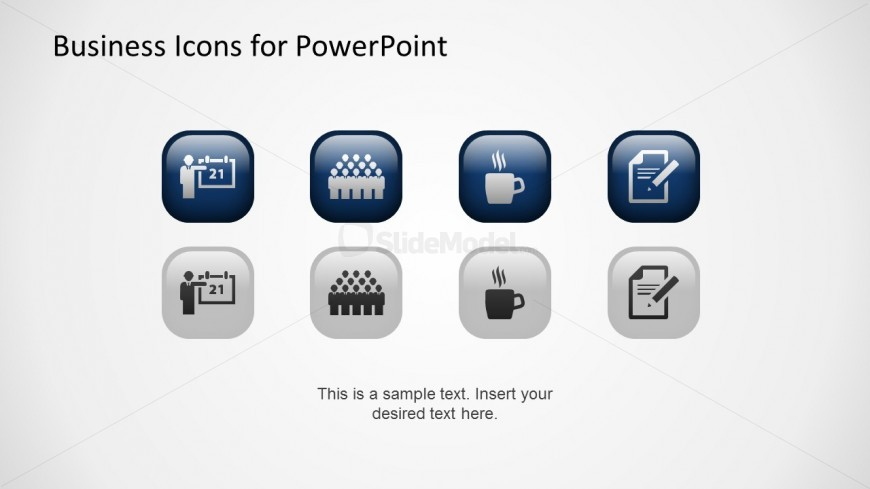 PowerPoint Business Icons Flat Design