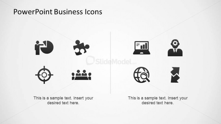 Amazing PowerPoint Icons with Business scenarios
