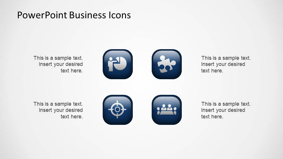 Four amazing 3D PowerPoint Business Icons